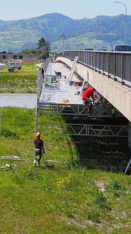 Die Sanierungsarbeiten an der Brücke sind schon angelaufen. CEG