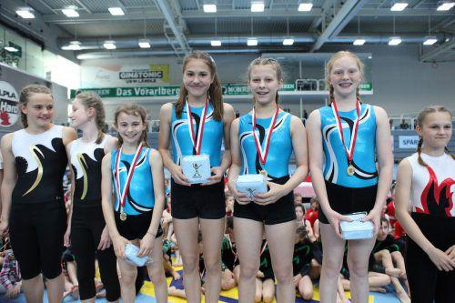 Die siegreichen U-10-Mädchen der Turnerschaft Göfis.VTS