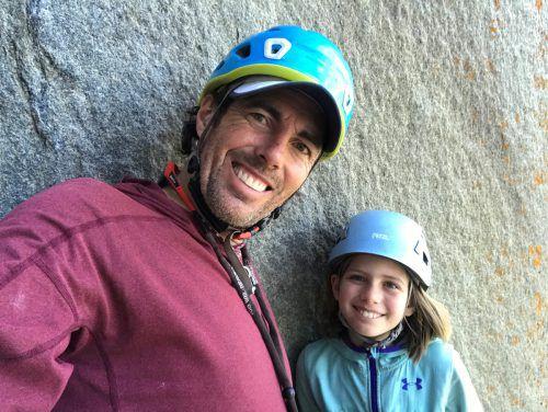 Die zehnjährige Selah Schneiter wurde von ihrem Vater begleitet. Reuters