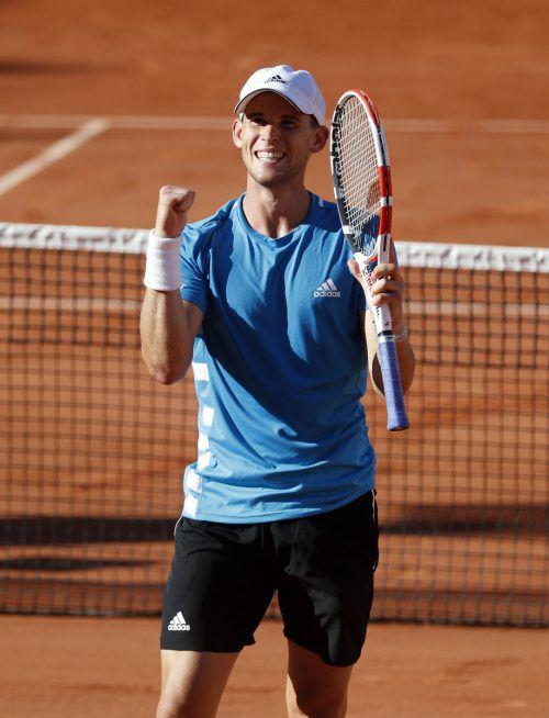 Dominic Thiem bezwang am Samstag in der dritten Runde der French Open in Paris Pablo Cuevas mit 6:3, 4:6, 6:2, 7:5.Reuters
