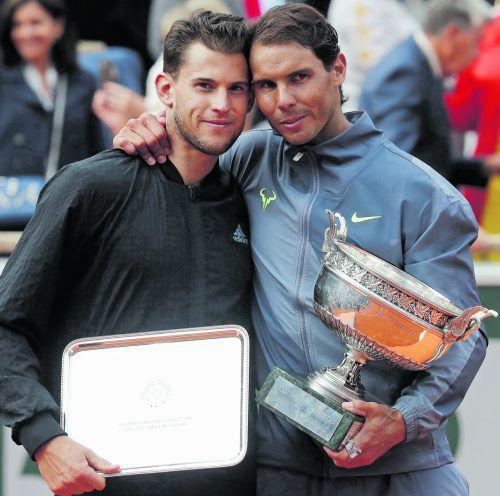 Dominic Thiem konnte Rafael Nadal nach dem schweren Vorprogramm im Finale nicht mehr fordern. Der Spanier gewann seinen 12. Titel in Paris.ap