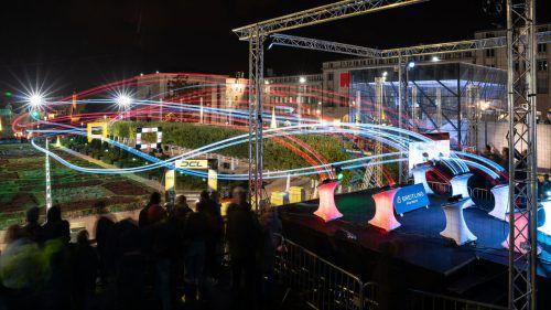 Ein Spektakel zum Anschauen: Die Drone Champions League im Messequartier, bei der man auch testen kann. WWP