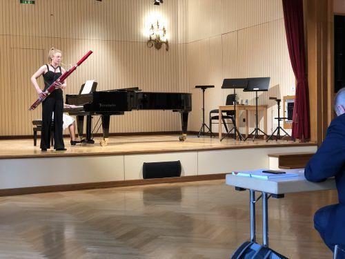 Fagottistin Johanna Bilgeri. MDJ