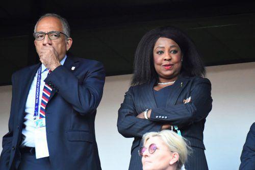 Fatma Samoura, Generalsekretärin des Weltverbandes, überwacht das nächste halbe Jahr das Fußballgeschehen auf dem afrikanischen Kontinent.apa
