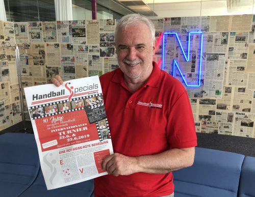 Ferdinand Armellini hat vor zehn Jahren die Handball Specials Vorarlberg gegründet. Zum Jubiläum steigt am Wochenende ein Turnier in Hard. JD