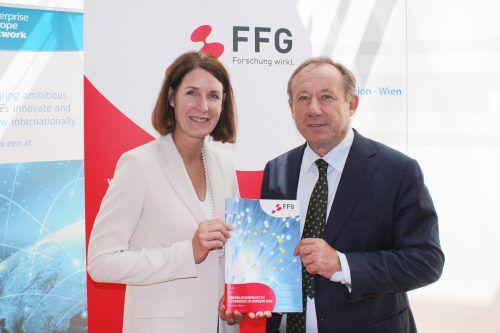 FFG-GF Henrietta Egerth und Stv. Generaldirektor Wolfgang Burtscher. FFG