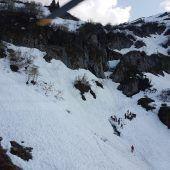Gefährliche Altschneefelder