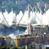 Reste von Unglücksbrücke in Genua gesprengt