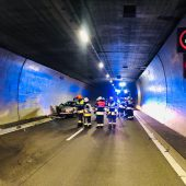 Unfall im Tunnel