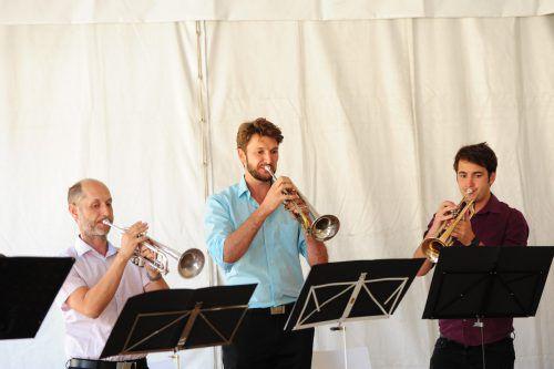 """Für die musikalische Umrahmung sorgte das Ensemble """"Die Blechprinzen""""."""