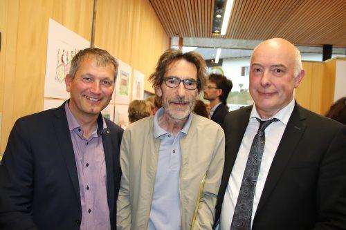Gastgeber Armin Fechtig, Michael Hirtenfelder und Ariel Lang.