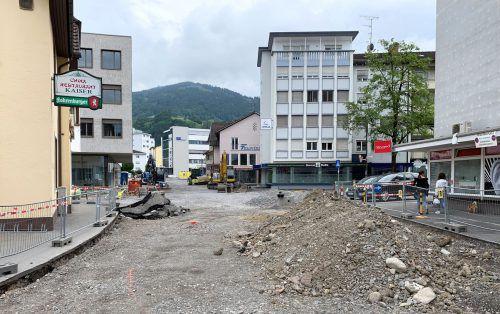Großbaustelle Kreuzgasse: Nach Fertigstellung auch Platz für Busverkehr. STD