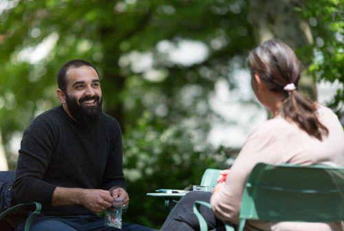 Hamed Abboud erzählt von seinen Eindrücken während seines dreitägigen Aufenthalts in Hohenems. frauke kühn
