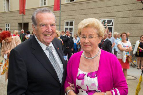 Herbert und Rita Batliner bei der Eröffnung bei der Salzburger Festspiele 2016.apa