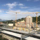 In Feldkircher Bahnhof-Baugrube wird jetzt betoniert
