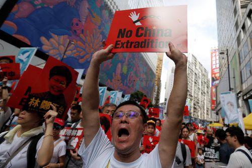 In Hongkong wurde gegen das neue Auslieferungsgesetz demonstriert. reuters