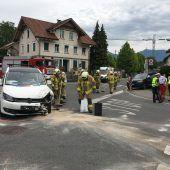 Fünf Verletzte bei Unfall in Lustenau