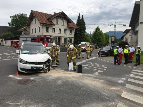 Insgesamt zwei Fahrzeuge waren an dem Unfall beteiligt. vlach/Vol.at