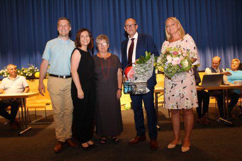 Johannes Decker, Andrea Gabriel, Ilse Mock und Bürgermeister Walter Gohm mit Gattin Marion. he