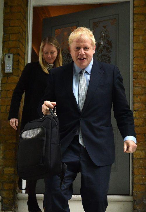 Johnson wurde im Rennen um das Amt des Premierministers als Favorit bestätigt.AFP