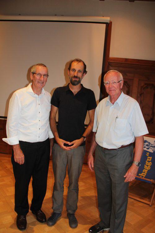 """Josef Mathies, Stefan Obkircher und Reinhard Falch referierten bei der Veranstaltung """"Baua z'Schru"""". str"""