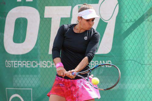 Julia Grabher erreichte in Darmstadt mit zwei klaren Siegen das Viertelfinale.GEPA