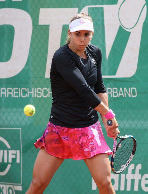 Julia Grabher feierte in Klosters ihren dritten Sieg bei einem 25.000-USD-Turnier.GEPA
