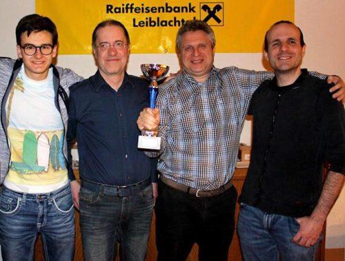 Julian Kranzl, IM Guntram Gärtner, IM Valery Atlas und Robert Sandholzer (v.l.) gewannen den Vorarlberg-Cup 2019.the