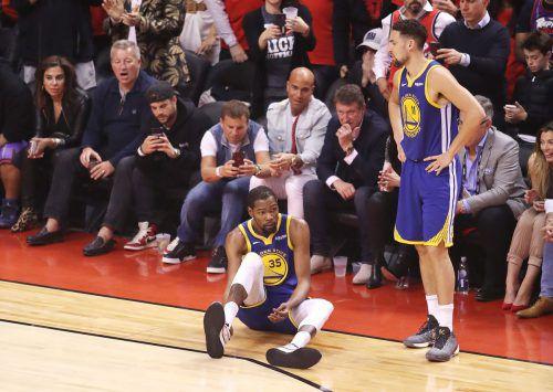 Kevin Durant steht den Golden State Warriors länger nicht zur Verfügung.apa