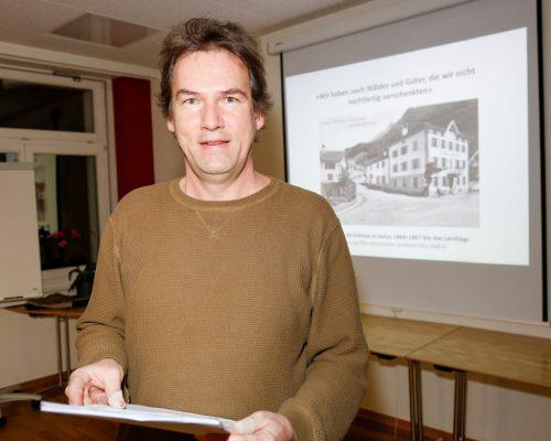 Klaus Biedermann referiert heute Abend im Zäwas in Bludenz. BI