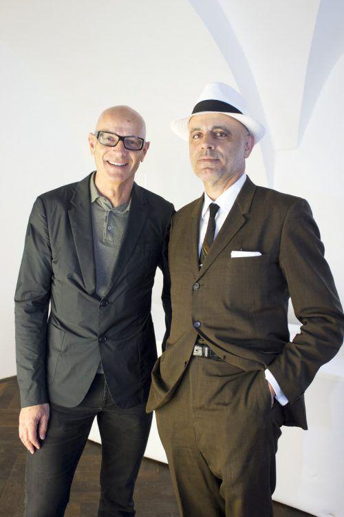 Künstlerischer Leiter und Präsident: Thomas Häusle und Gerald Matt. franc
