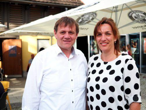 Kulturstadtrat Christoph Thoma und Karoline Mätzler (carl). SIE