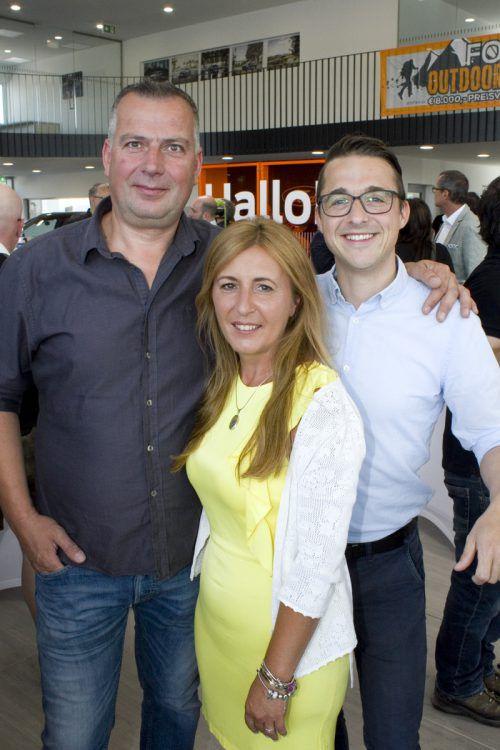 Kurt und Barka Schwendinger mit René Kussian.
