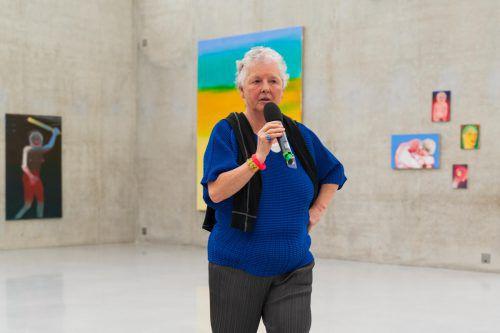 """Letzte Chance zum """"Genauen Hinschauen"""": Die Ausstellung mit Arbeiten von Miriam Cahn im KUB ist noch bis 30. Juni zu sehen. vn/Stiplovsek"""