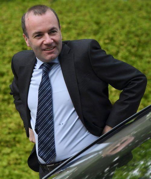 Manfred Weber wird heute zum Fraktionsvorsitzenden der EVP gewählt. afp