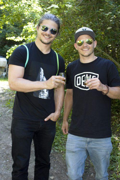Marc (l.) und Michael Sohm vom Hohenemser Judoclub.