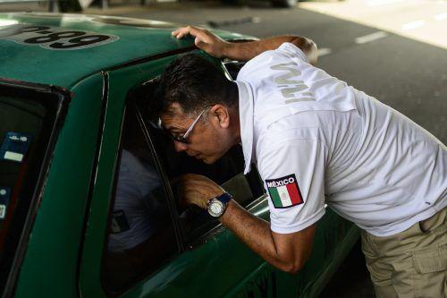 Mexikanische Einwanderungsbeamte kontrollieren an der Grenze zu Guatemala. afp