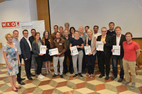 Mit Ethik zum Erfolg: Sechs Vorarlberger Unternehmen wurden in der Wirtschaftskammer Vorarlberg von der Gemeinwohl-Ökonomie Vorarlberg ausgezeichnet. wkv