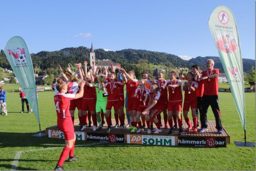 Nach dem Triumph im VFV-Cupfinale holten sich die Damen des FC Dornbirn ohne Punktverlust den Meisterititel in der Frauen-Landesliga.Knobel