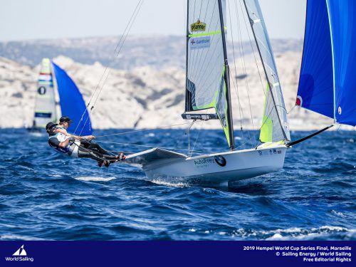 Nach Gold 2016 befinden sich Benjamin Bildstein/David Hussl beim Weltcupfinale vor Marseille auf Medaillenkurs.Verband