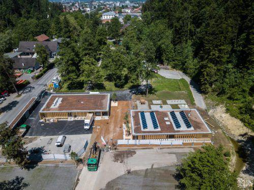 Neuer Campingplatz Enz steht kurz vor der Eröffnung. Rechtzeitig zur Gymnaestrada soll das Bauvorhaben abgeschlossen sein. VN/Steurer