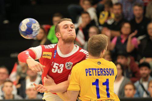 Nikola Bilyk war mit zehn Toren ÖHB-Topskorer beim 32:33 gegen Schweden zum Abschluss des EHF-Eurocups.GEPA