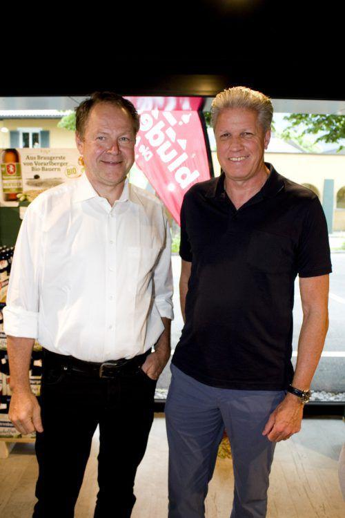 Notar Egon Kasseroler (l.) und Jürgen Dietrich (Wiener Städtische).