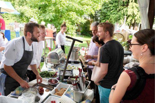 Pascal Lang und Mathias Enzenhofer kochen im Gasthof Mohren auf. veranstalter