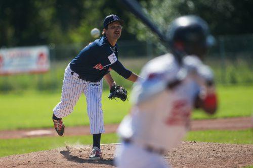 Pitcher Ryan Rupp führte die Dornbirn Indians zu zwei weiteren Siegen.VN/Steurer