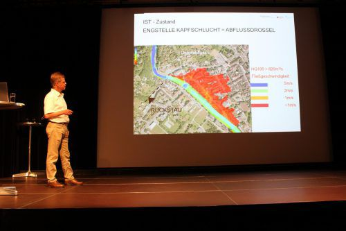 Projektleiter Wolfgang Erath (GF Wasserverband Ill-Walgau) erläuterte das Großprojekt. Heilmann