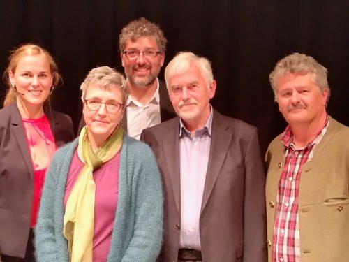 Raffaela Rudigier, Marietta Kobald, Michael Kasper, Alfons Dür und Friedrich Juen. BI