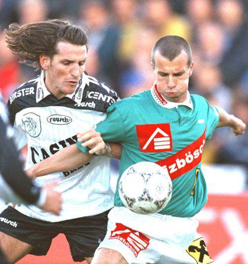 """Ralf """"Jeff"""" Geiger und Tamas Tiefenbach sind u. a. heute beim Legendenspiel dabei."""