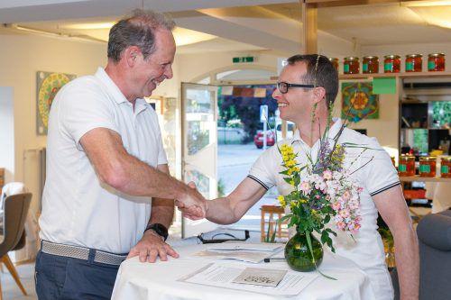 René Nick übergibt den Vorsitz an Johannes Breuß.