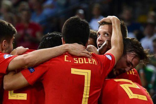 Revanche für 2017. Dieses Mal jubelten Spaniens U-21-Spieler im Endspiel gegen Deutschland. Am Ende gab es einen 2:1-Sieg.afp